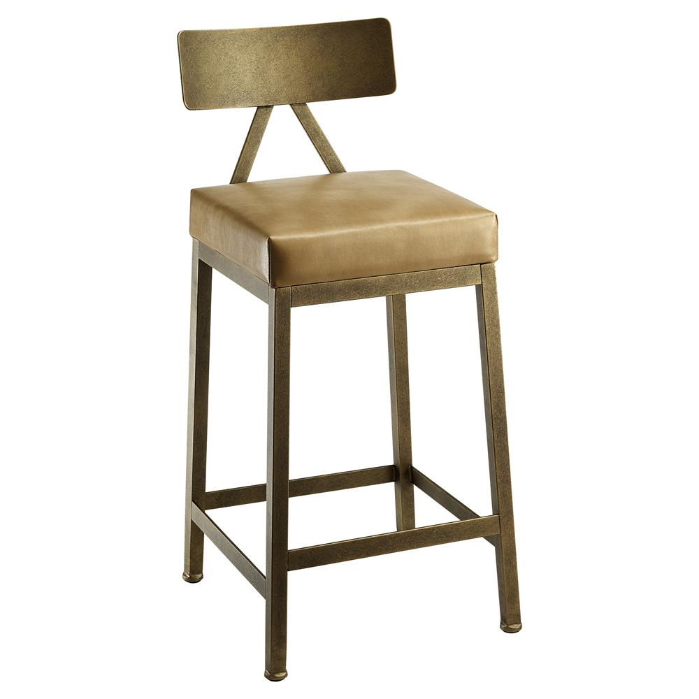 Marco Modern Leather Upholstered Copper Bar Stool 26