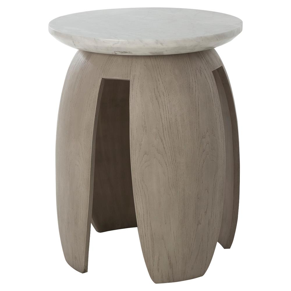 Kelly hoppen gray modern classic grey oak white marble top side table kathy kuo home