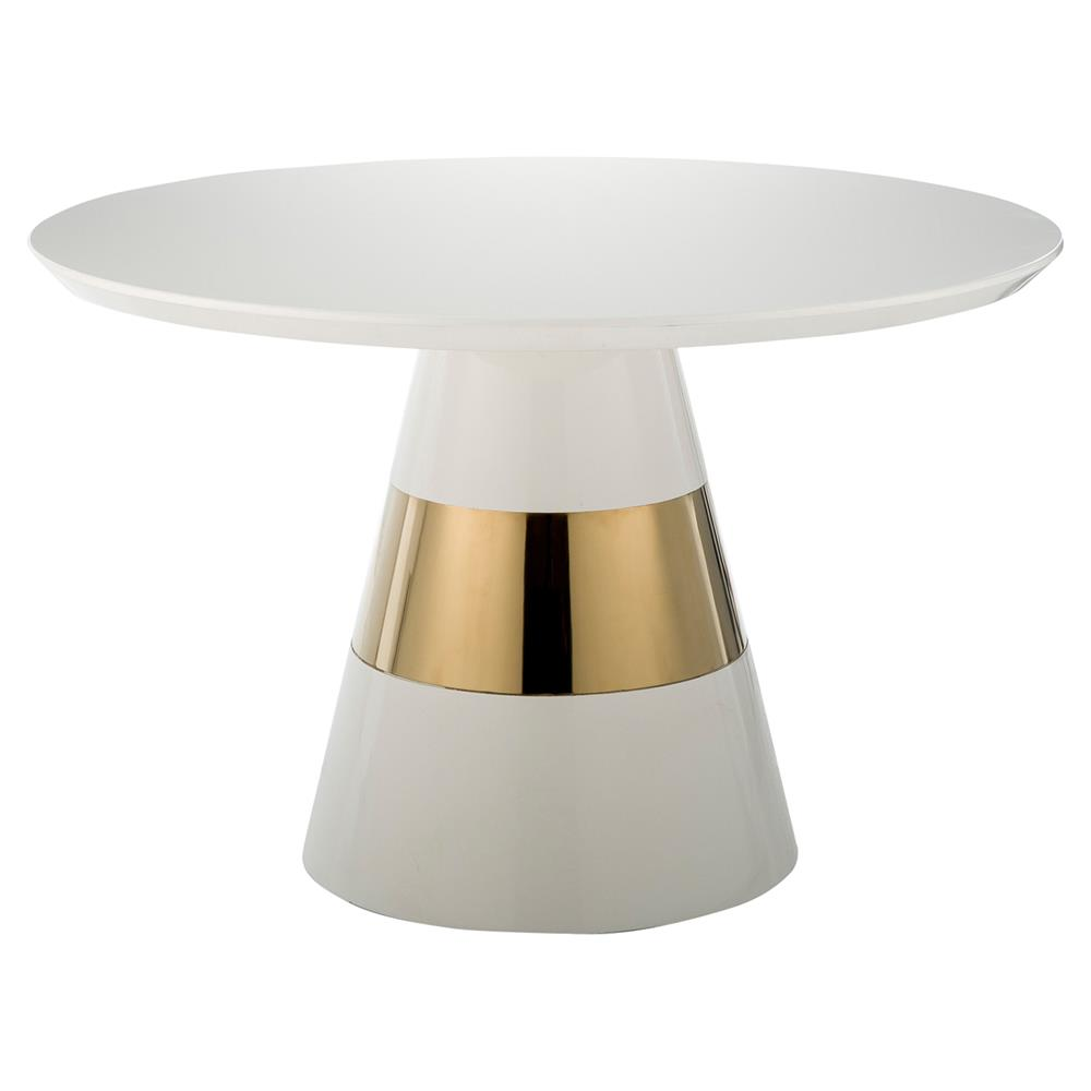 Kelly hoppen band modern classic round snow white for Modern side table