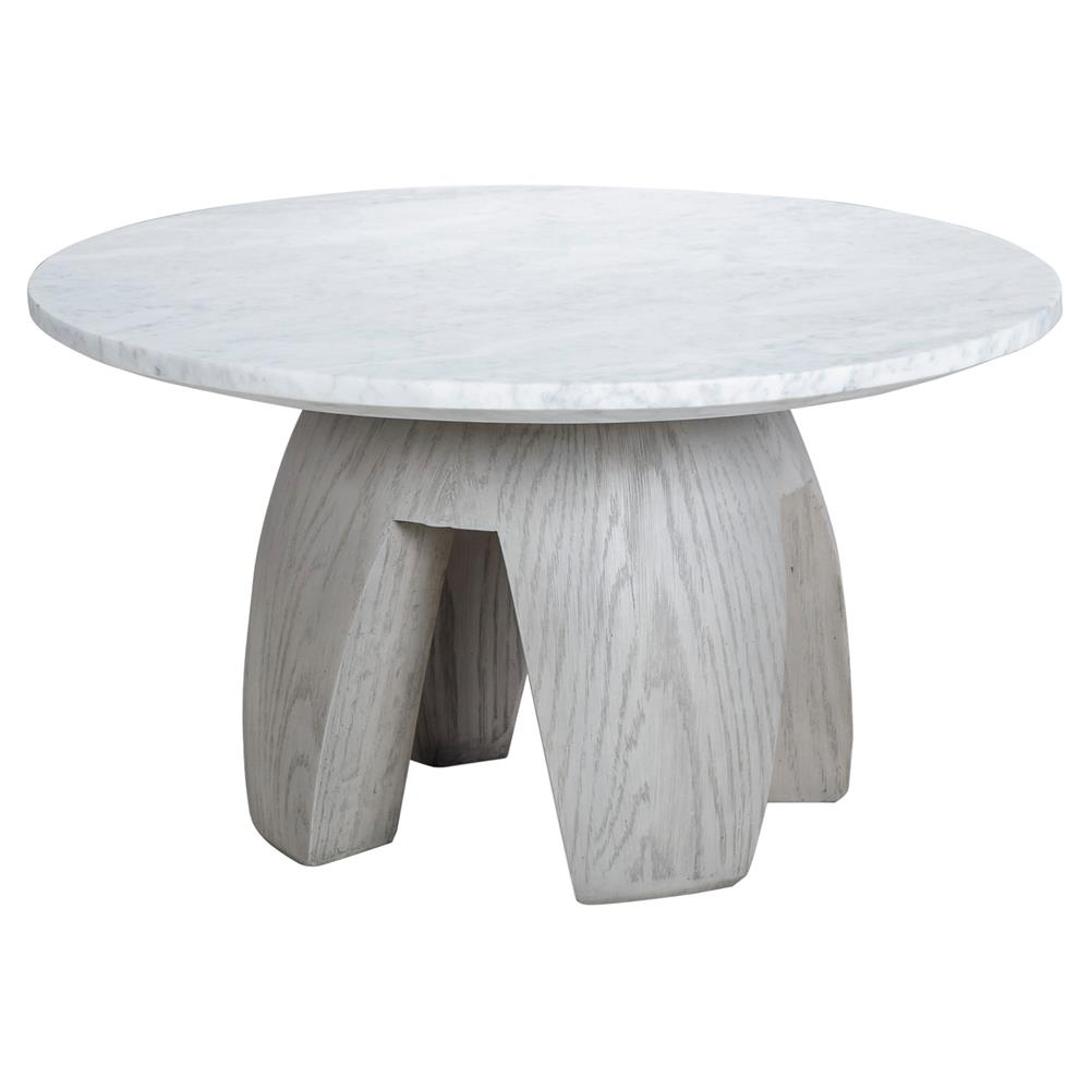 kelly hoppen gray modern classic grey oak marble top round coffee table kathy kuo home. Black Bedroom Furniture Sets. Home Design Ideas