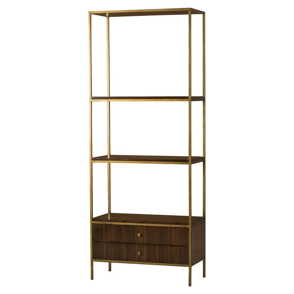 edge gilded bertram bookcase book shelves left whitford home product bookcases bookshelf gold gild