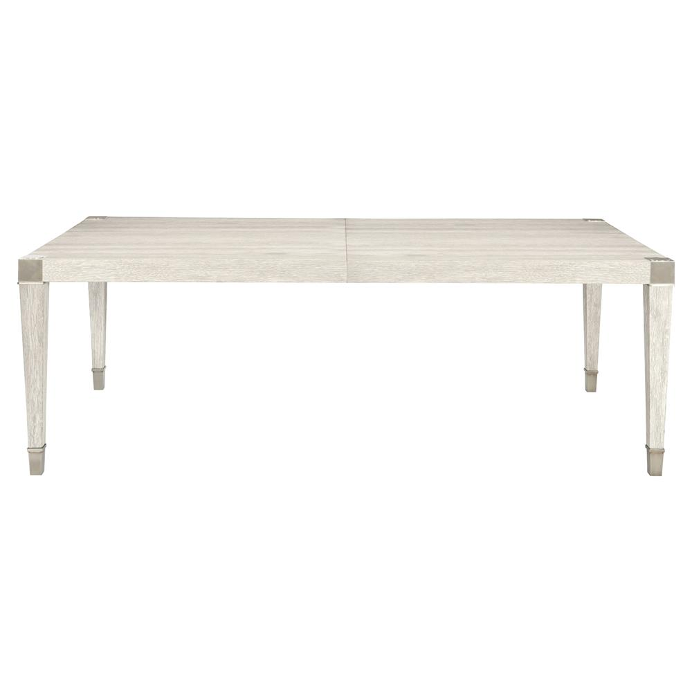 Hayley Hollywood Regency Rectangular Dove White Dining Table Kathy Kuo Home