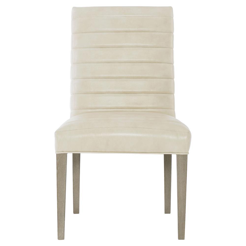 Gwyneth Modern Classic Dark Taupe Leather Dining Side Chair