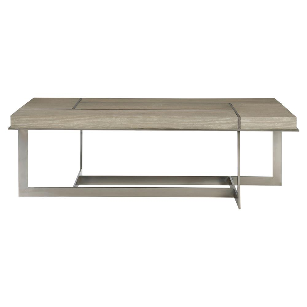 Gentil Gwyneth Modern Classic Oak Metal Grille Overlay Coffee Table | Kathy Kuo  Home ...