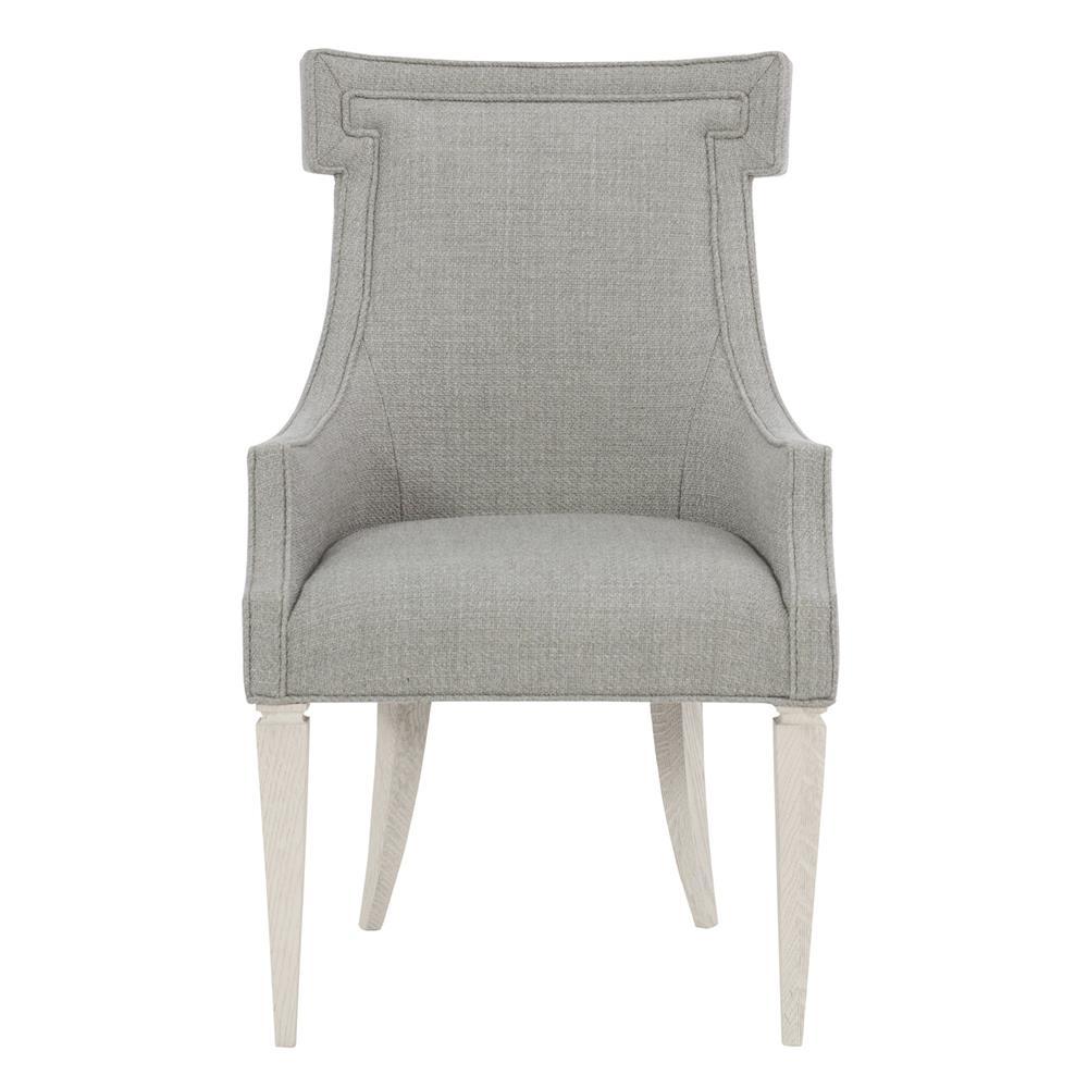 Hayley Hollywood Regency Grey White Oak Upholstered Dining