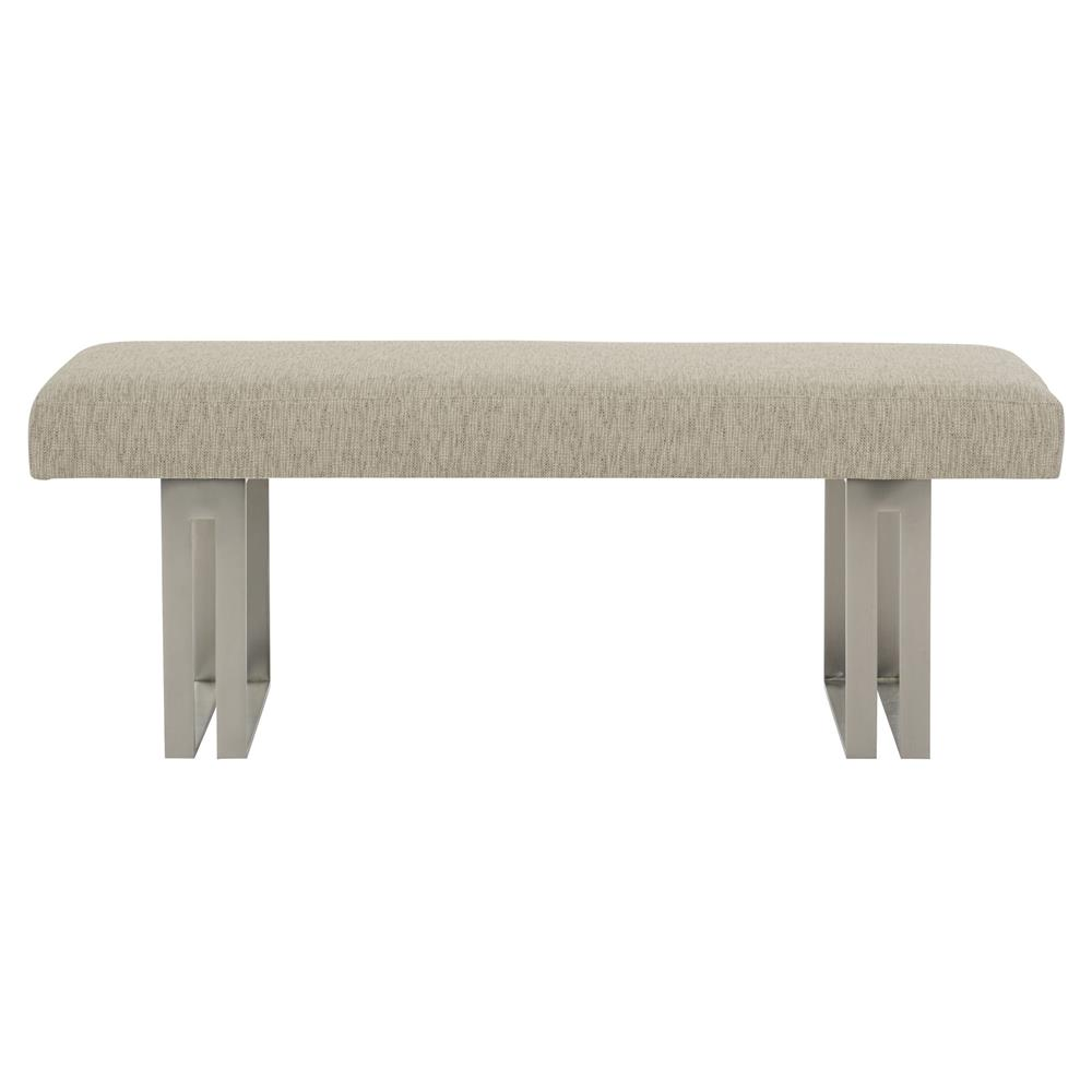 Upholstered Bench Beige: Gwyneth Modern Classic Beige Upholstered Metal Bench