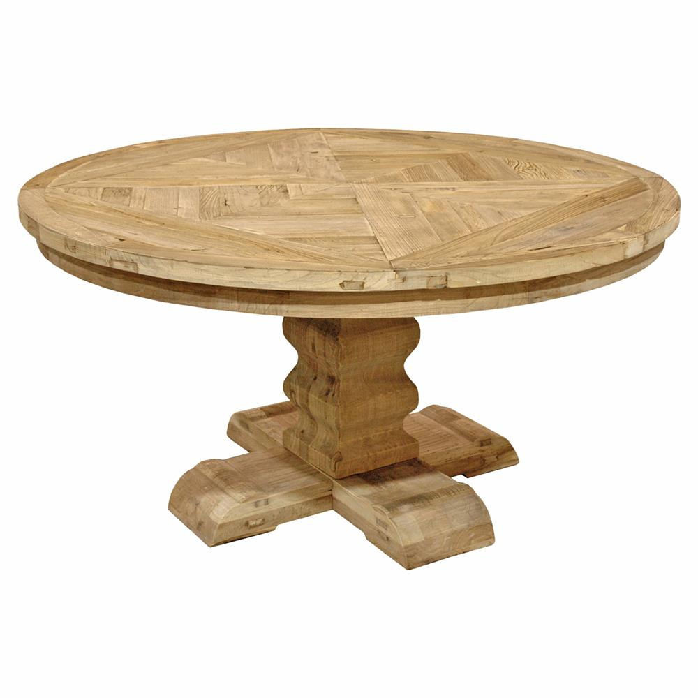 French Country Round Dining Table: Lautrec French Country Round Reclaimed Elm Pedestal Dining
