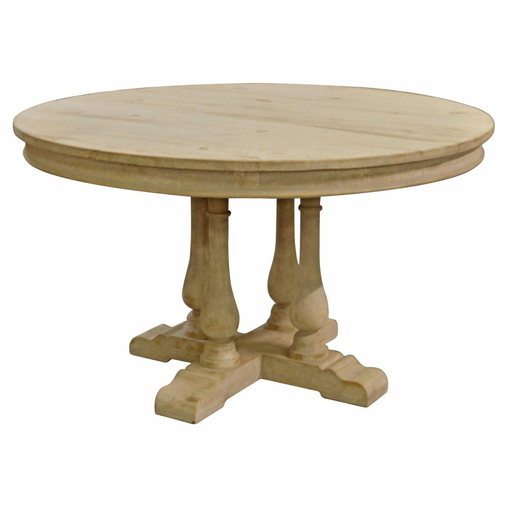 French Country Round Dining Table: Marche French Country Round Pedestal Dining Table