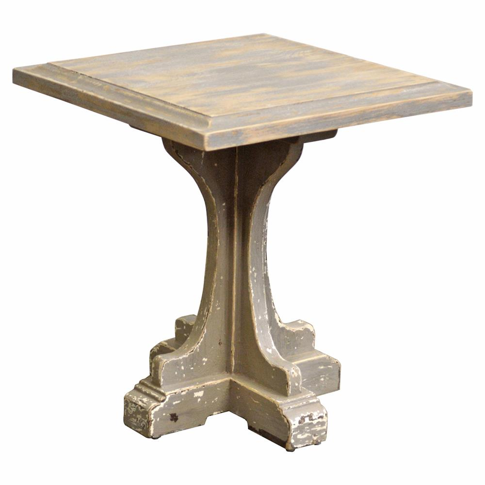 French Country Distressed Coffee Table: Mouffetard French Country Square Distressed Side End Table