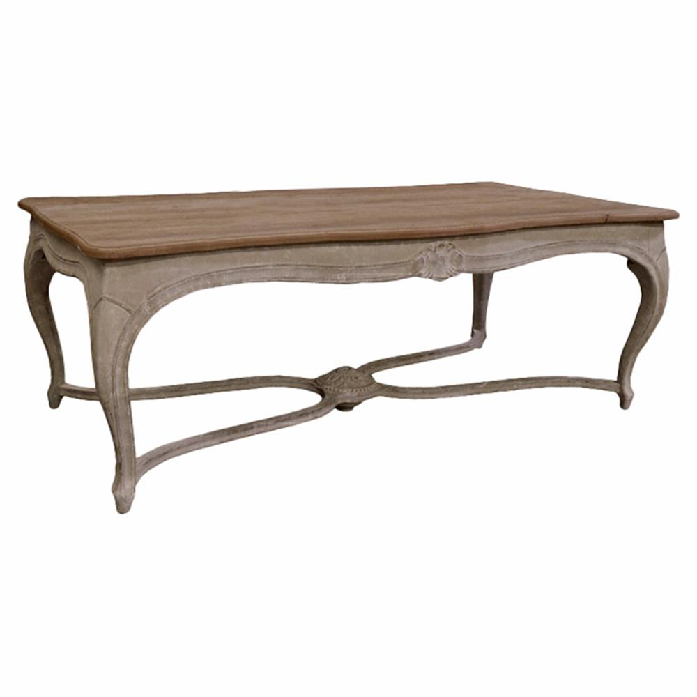 Franche French Country Rectangular Trestle Dining Table | Kathy Kuo Home