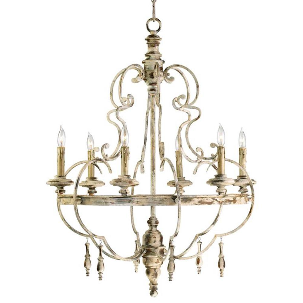 Da Vinci 6 Light French Country Antique Ivory Chandelier | Kathy Kuo ...