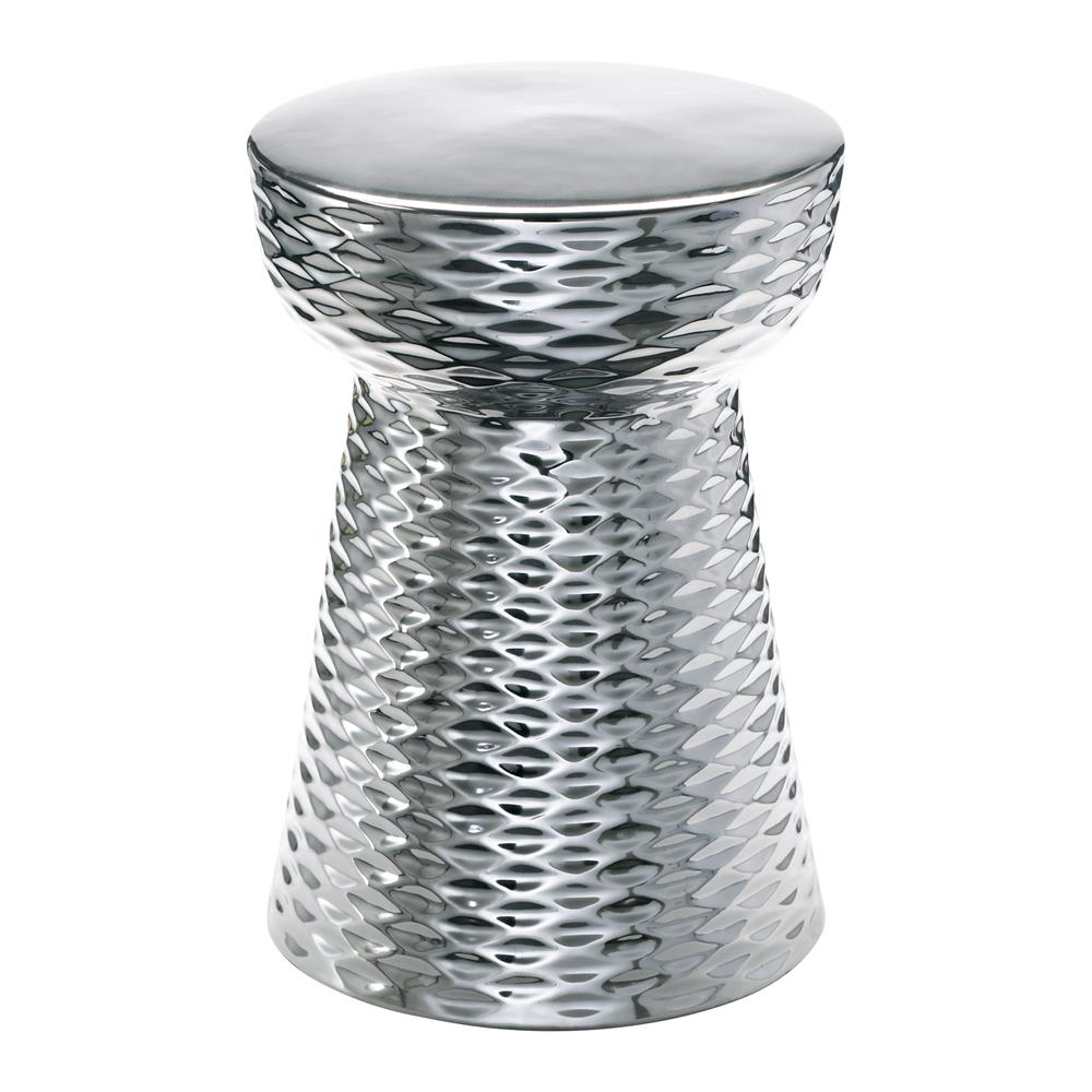 modern silver ceramic garden stool end table kathy kuo home