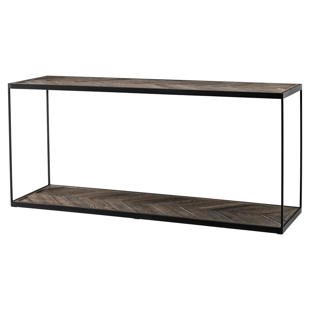Eichholtz la varenne rustic weathered oak rectangular single shelf eichholtz la varenne rustic weathered oak rectangular single shelf console table kathy kuo home geotapseo Choice Image