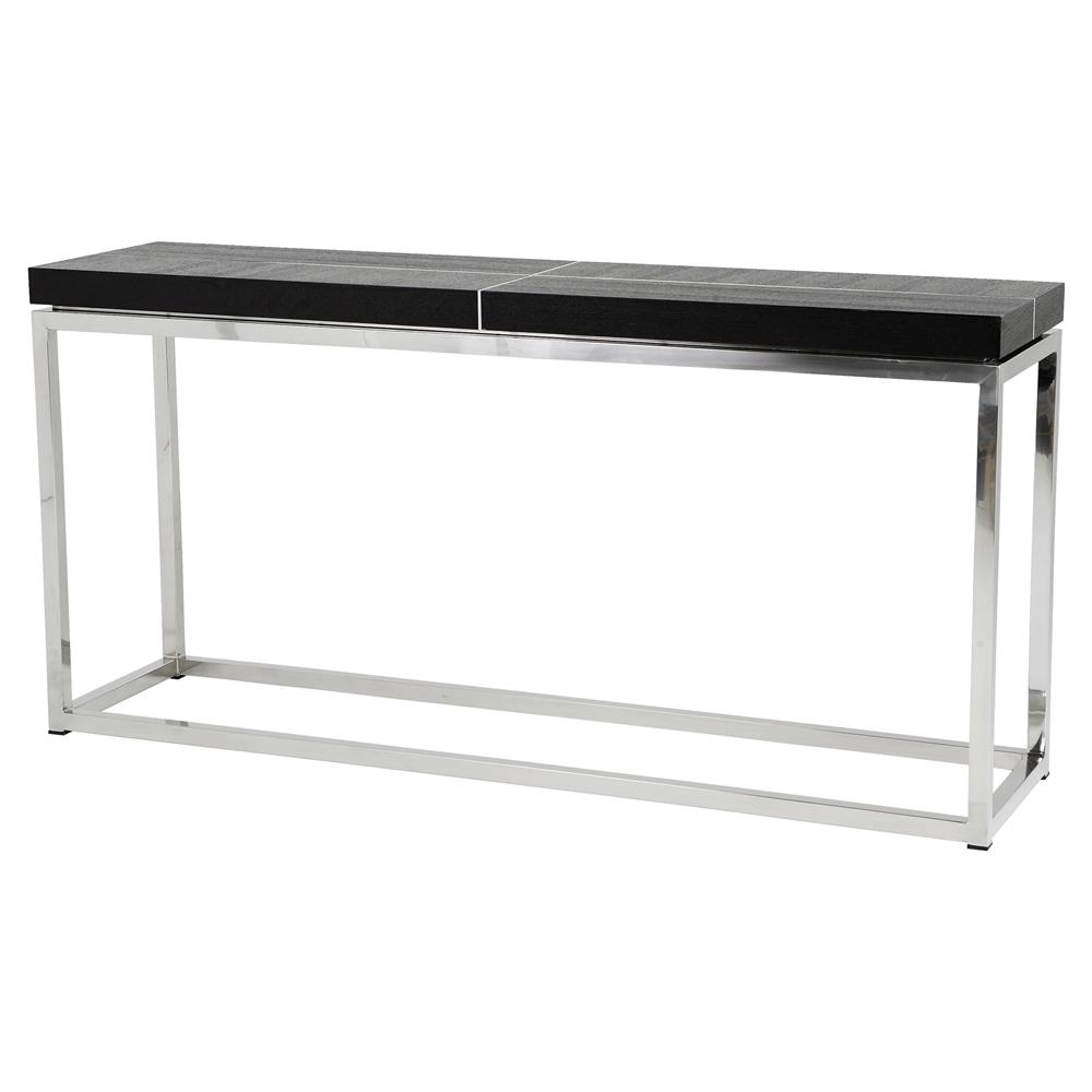 Eichholtz magnum modern classic black oak veneer top rectangular eichholtz magnum modern classic black oak veneer top rectangular console table kathy kuo home geotapseo Choice Image