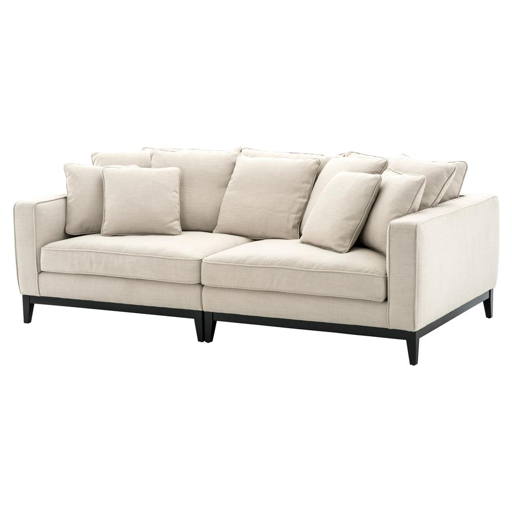 Eichholtz Principe Modern Classic White Upholstered Sofa | Kathy Kuo Home