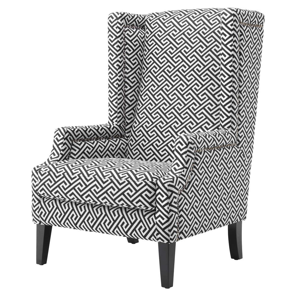 Charmant Eichholtz Eleventy Modern Black White Greek Key Patterned Accent Club Chair  | Kathy Kuo Home ...