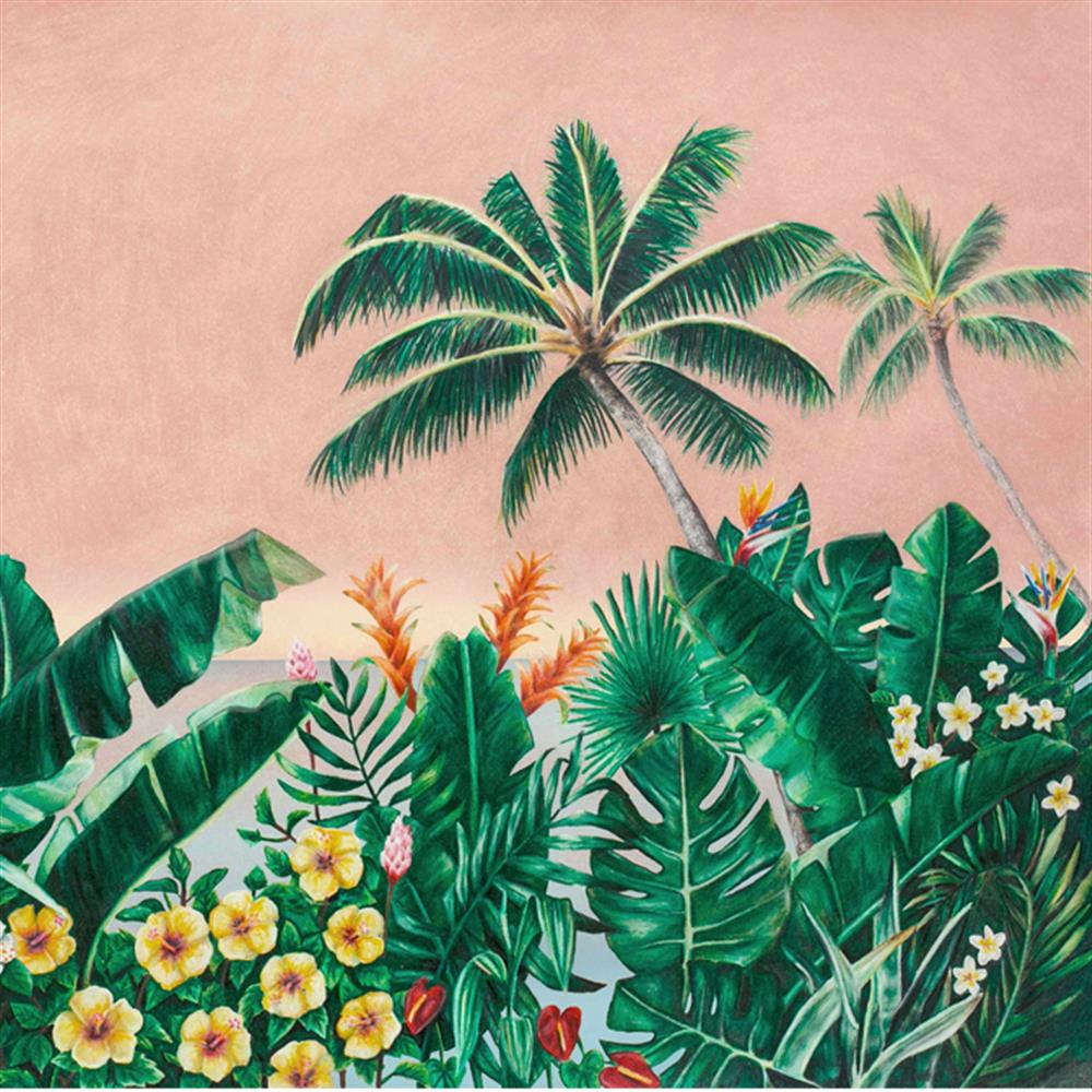 anewall melika modern classic tropical palm tree wallpaper