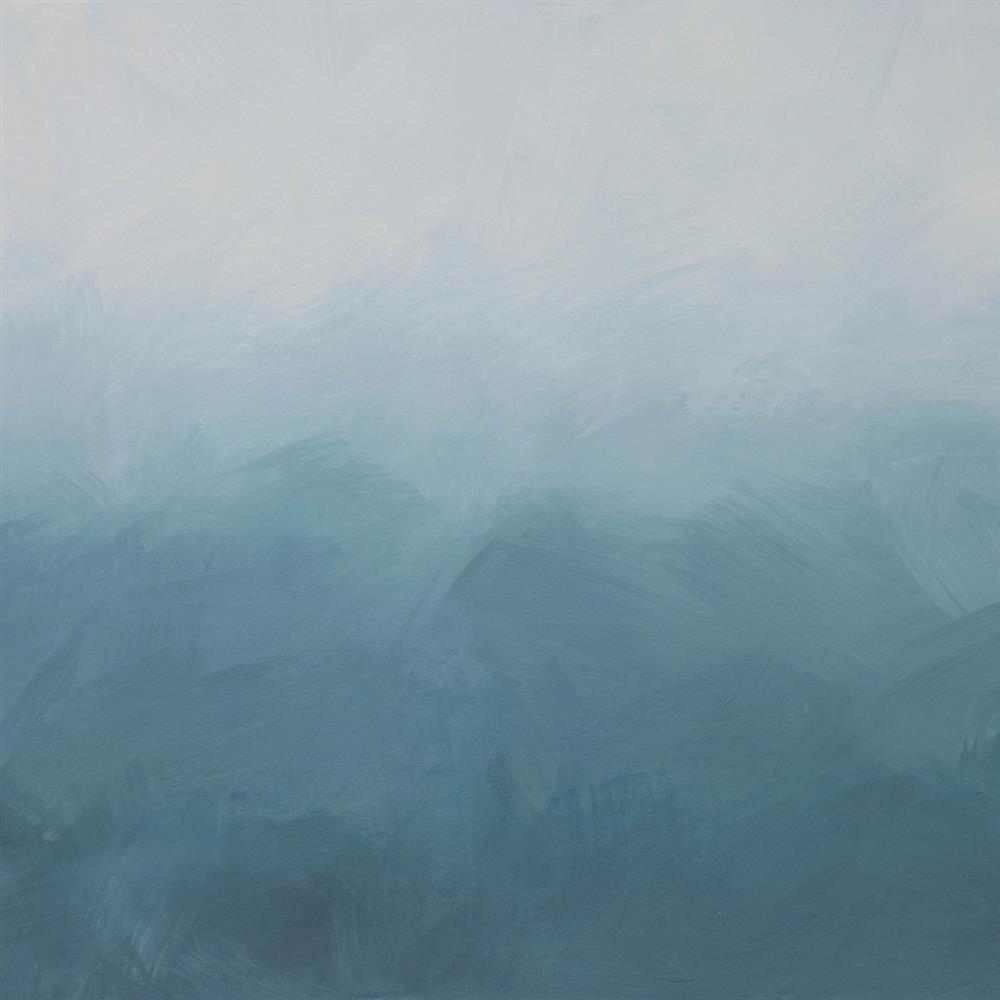 . Anewall Roke Ombre Modern Classic Misty Blue Wallpaper