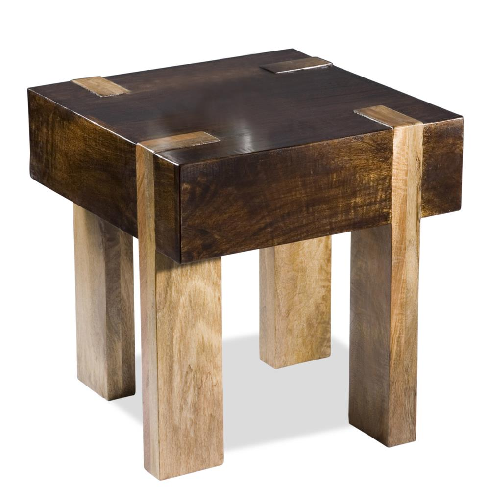 Contemporary End Tables berkeley solid chunky wood contemporary end side table | kathy kuo