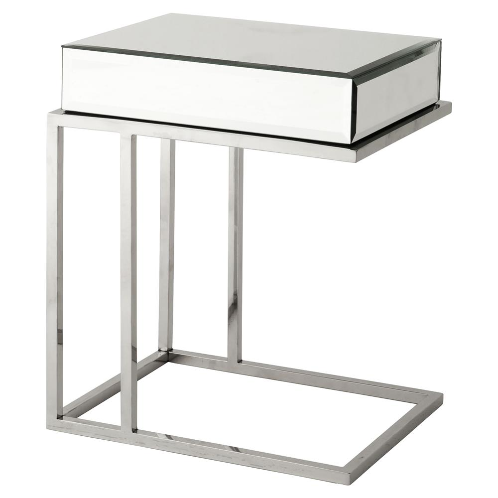 Eichholtz Beverly Hills Regency Rectangle Beveled Mirror Glass High Side  Table | Kathy Kuo Home