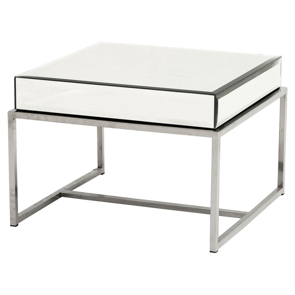 Eichholtz Beverly Hills Regency Square Beveled Mirror Glass Side Table |  Kathy Kuo Home