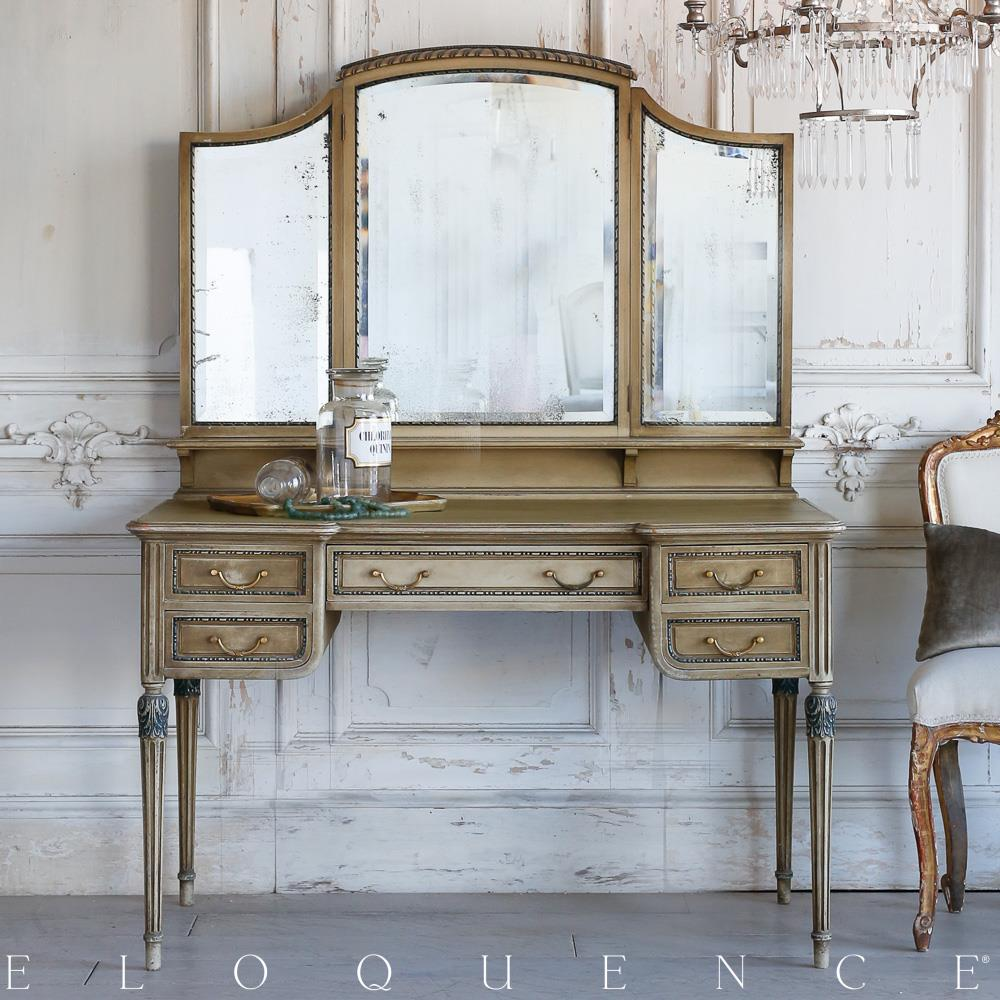 - Eloquence French Country Style Antique Vanity Desk Kathy Kuo Home