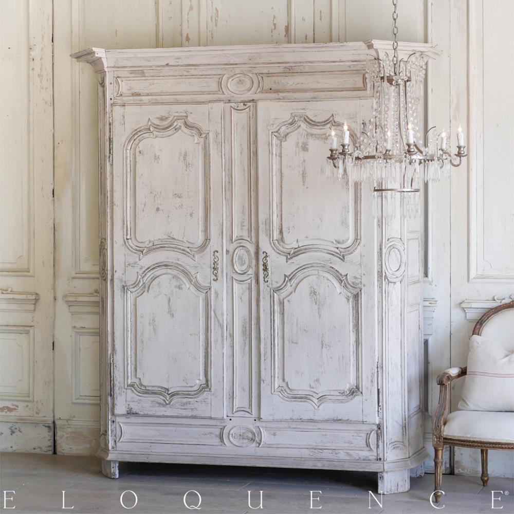 Eloquence French Country Style Antique Armoire | Kathy Kuo Home
