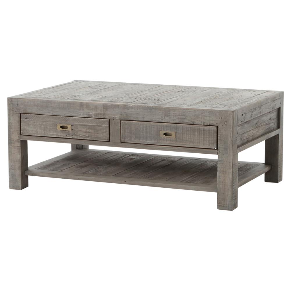 Neibolt Rustic Lodge Dark Grey Reclaimed Wood Rectangular