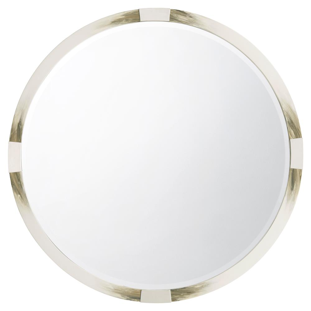 cutting edge modern classic longhorn white faux horn round wall mirror kathy kuo home