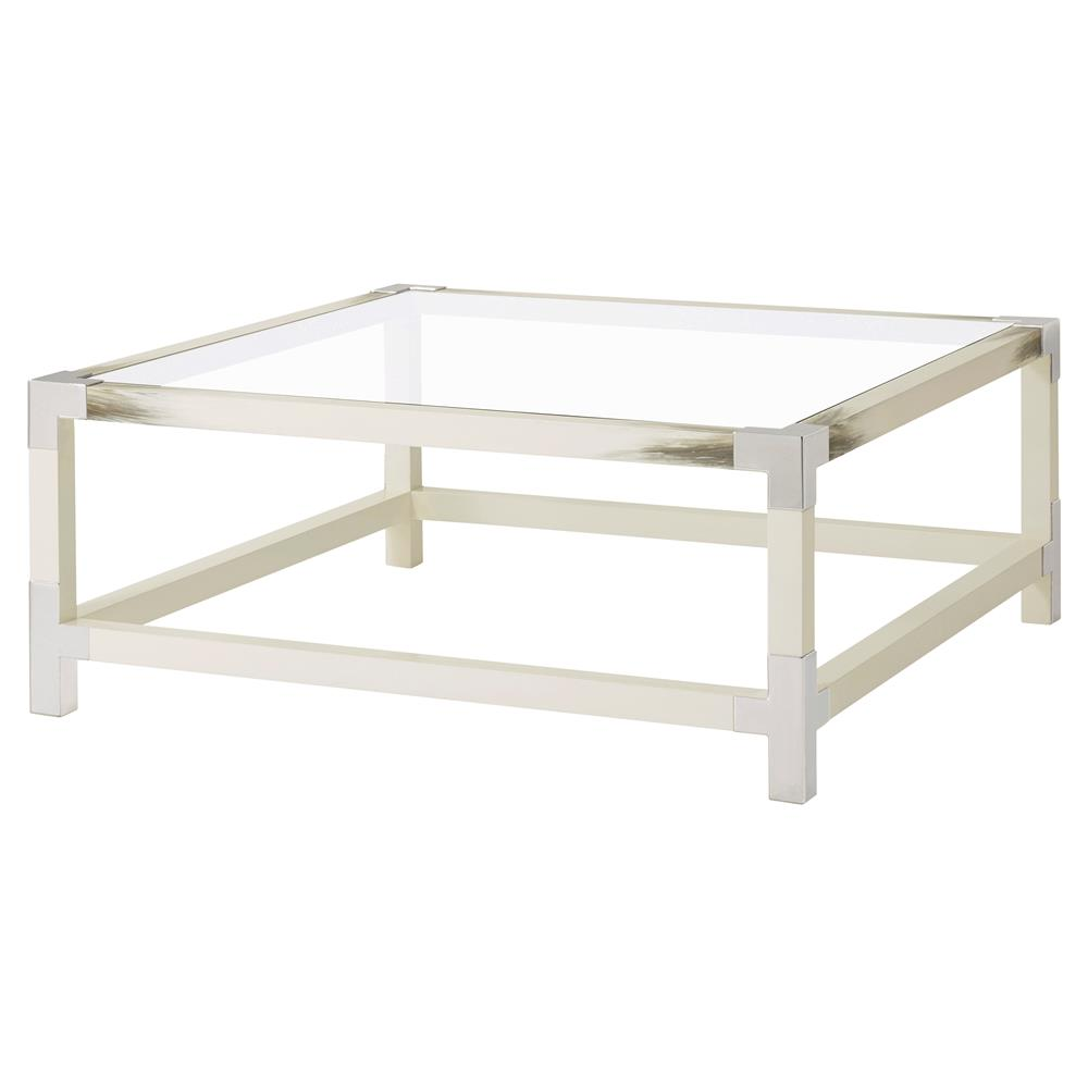 cutting edge furniture. Theodore Alexander Cutting Edge Longhorn White Faux Horn Square Coffee Table | Kathy Kuo Home Furniture