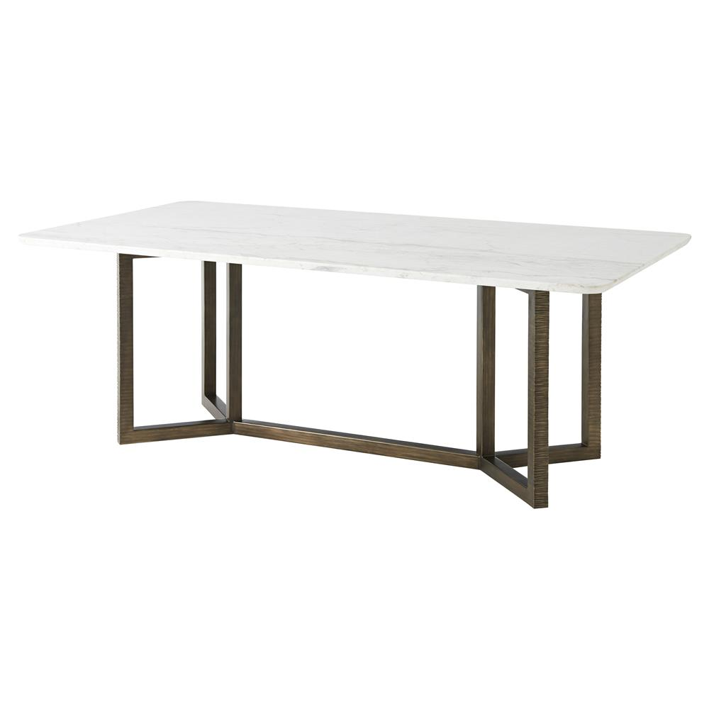 Beau Theodore Alexander Hermosa Table Honed White Marble Top Dining Table |  Kathy Kuo Home ...