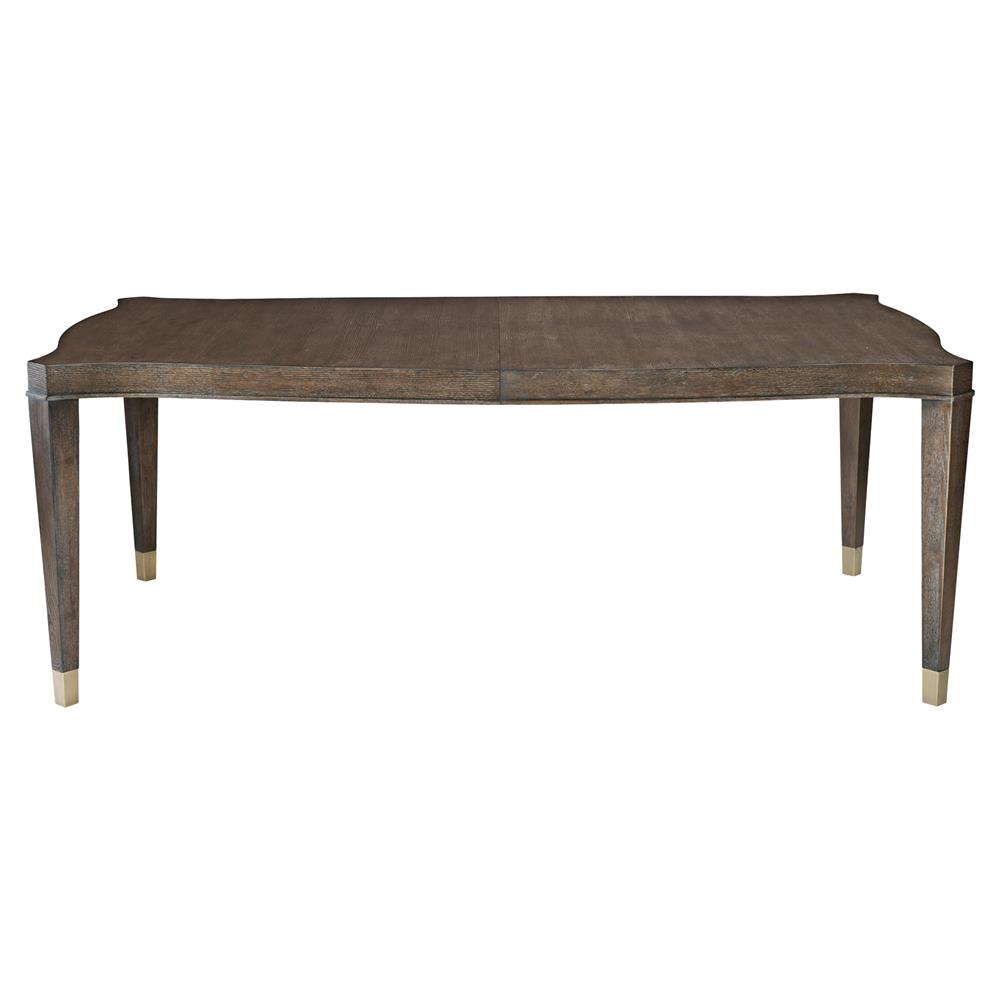 Clarke Modern Classic Dark Wood Rectangular Dining Table