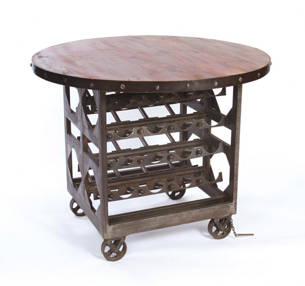 Counter Height Industrial Table : ... tables industrial reclaimed wood wine cellar counter height table