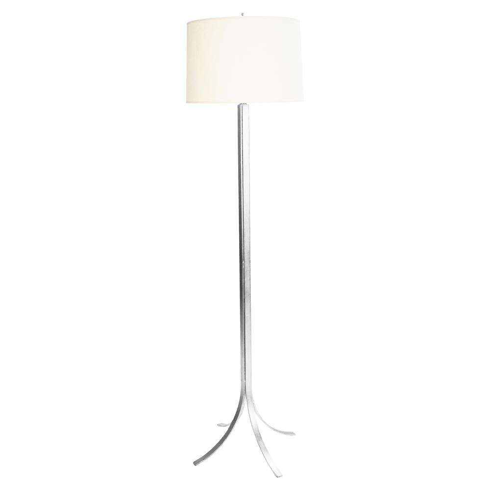 janney modern classic silver white drum shade floor lamp kathy kuo home. Black Bedroom Furniture Sets. Home Design Ideas