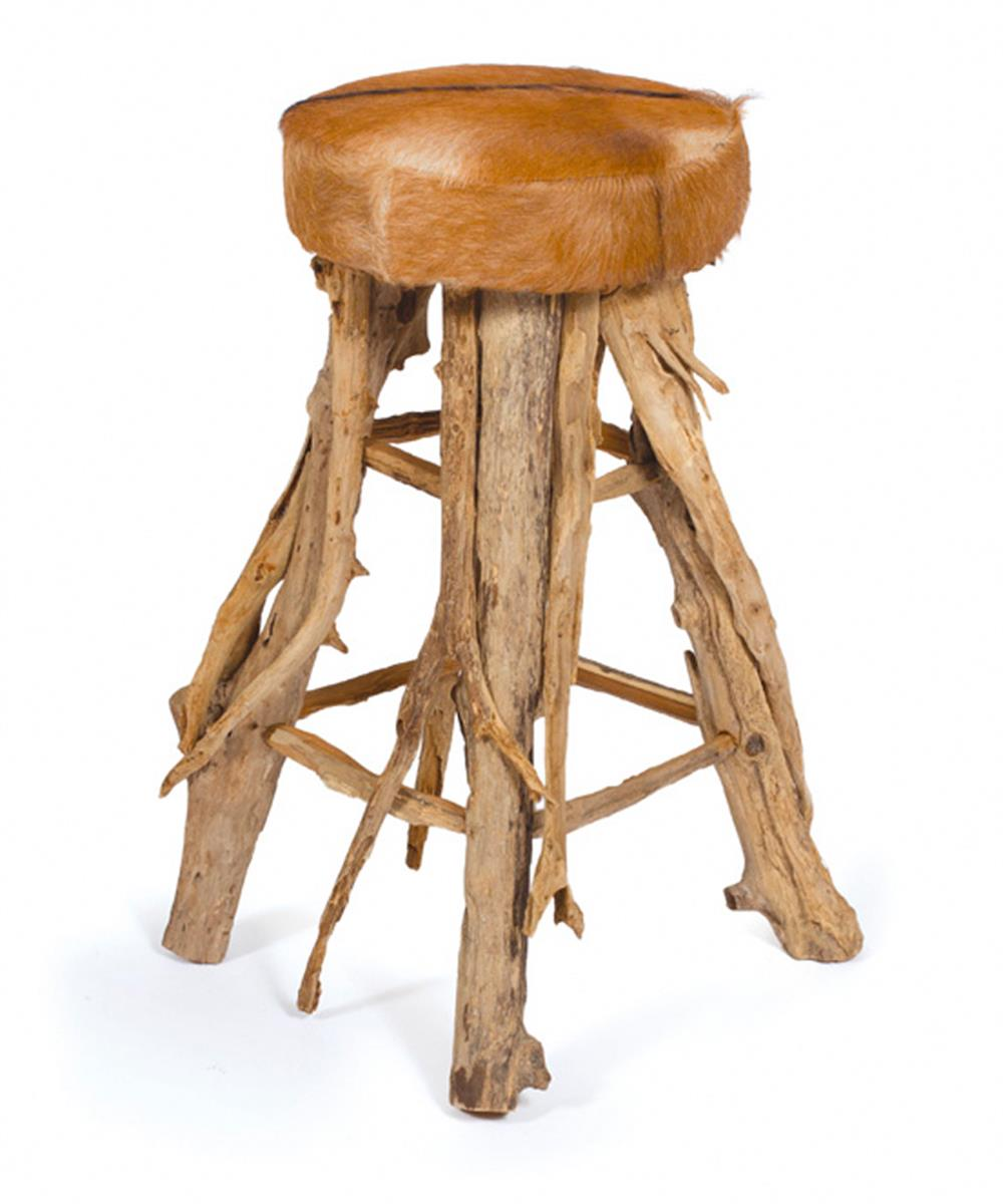 Rustic Bar Stools ~ Cowboy western cabin rustic hair on hide bar stool kathy