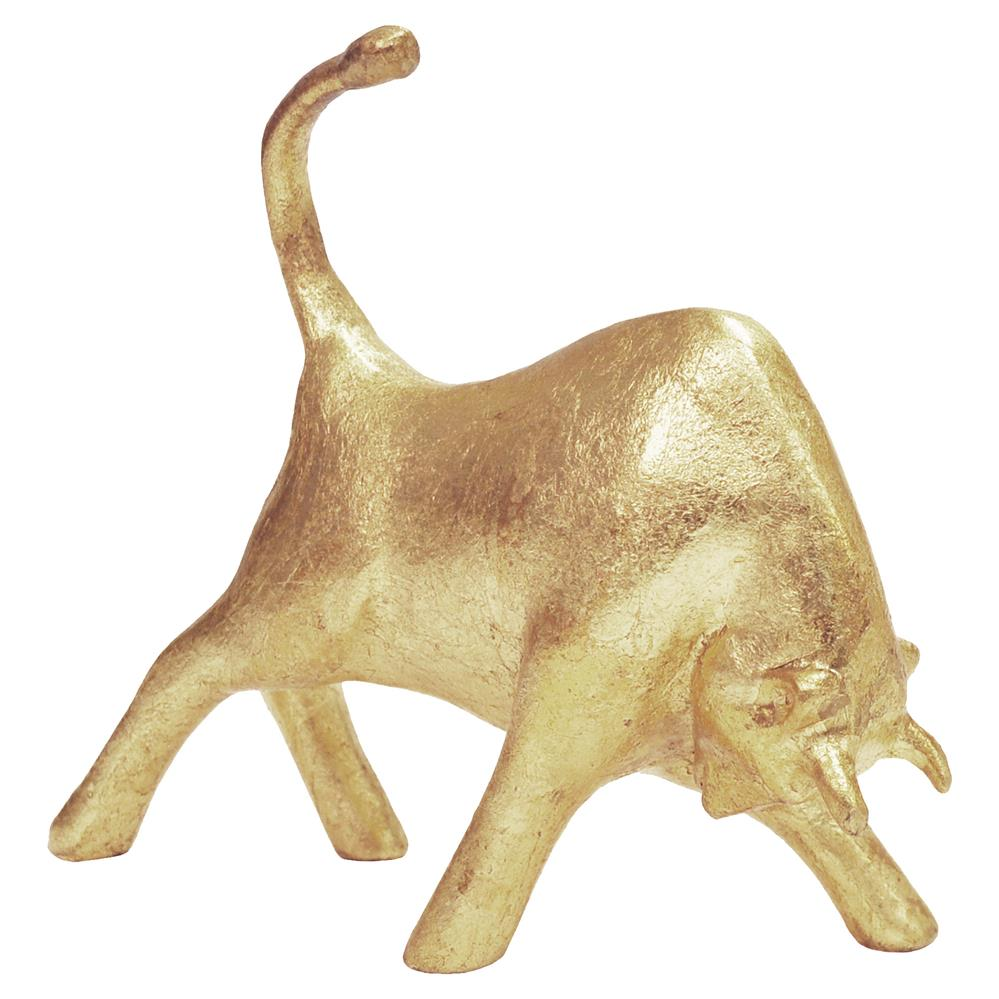 Fausto Modern Classic Decorative Gold Bull Sculpture | Kathy Kuo Home