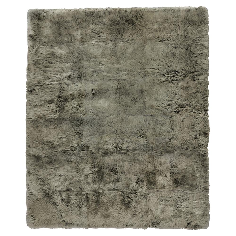 Exquisite Rugs Sheepskin Modern Classic Grey Brown Fur Rug