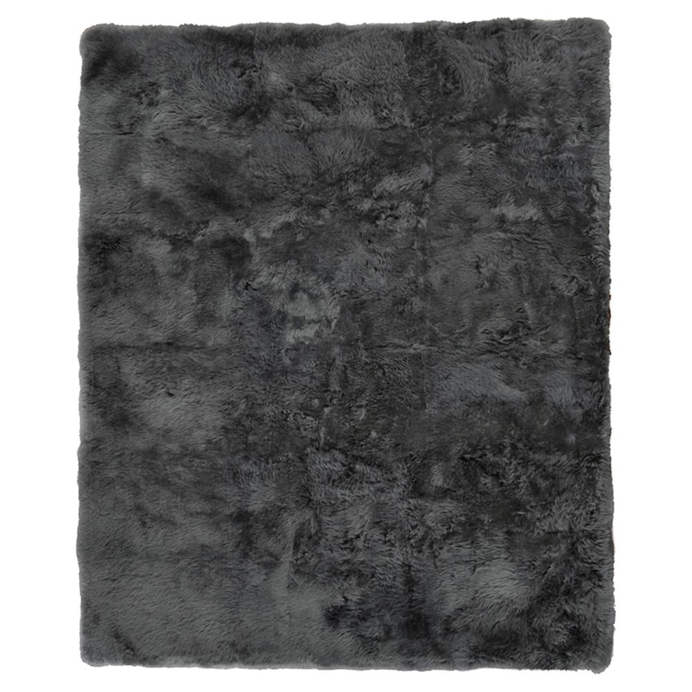 Exquisite Rugs Sheepskin Modern Classic Charcoal Grey Fur