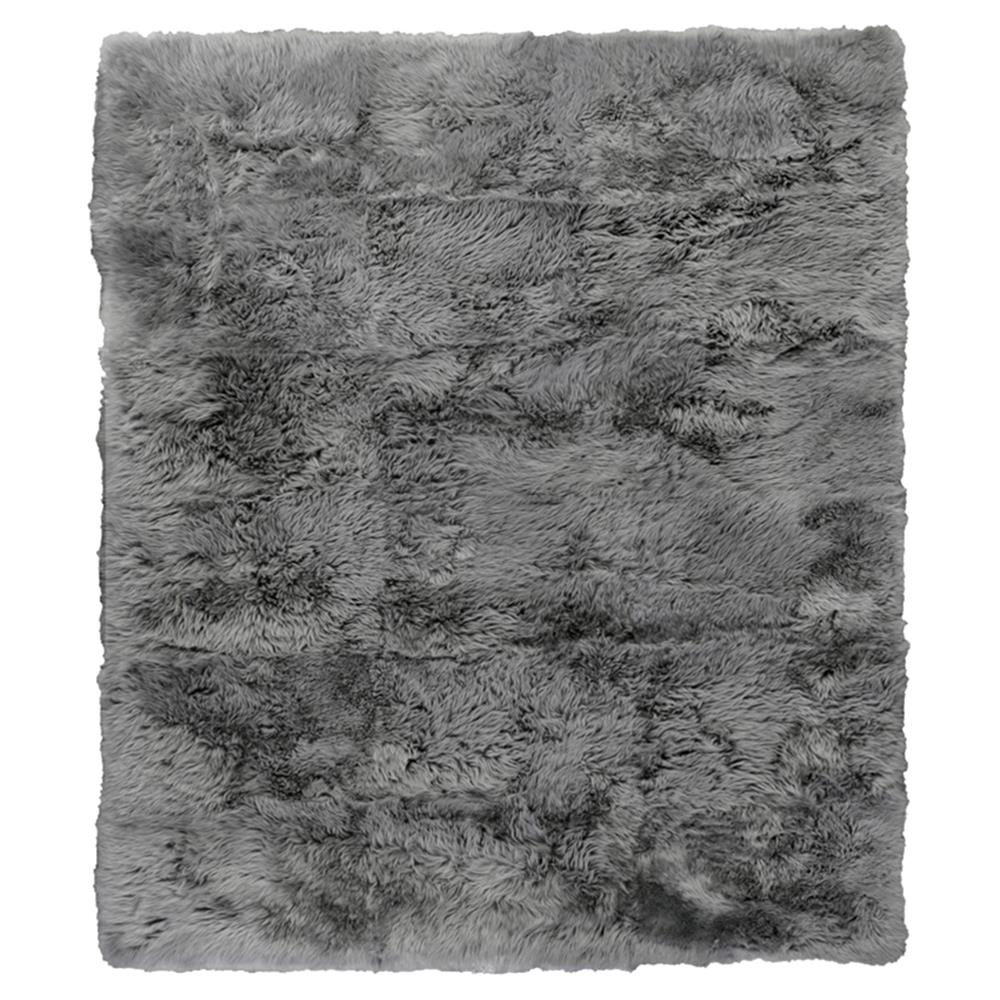 Exquisite Rugs Sheepskin Modern Classic Silver Grey Fur