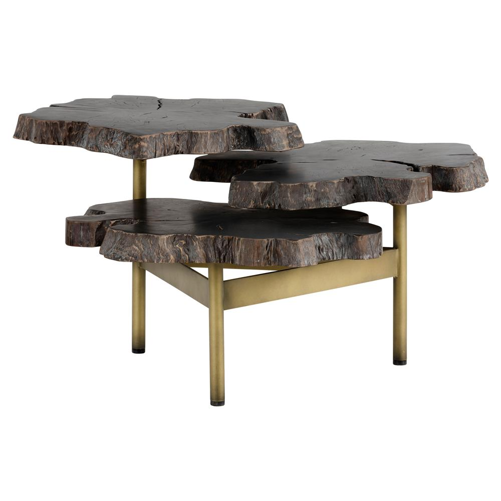 Vintage Burled Cypress Wood Live Edge Side Table At 1stdibs: Nadia Modern Classic 3 Tier Live Edge Wood Gold Coffee Table