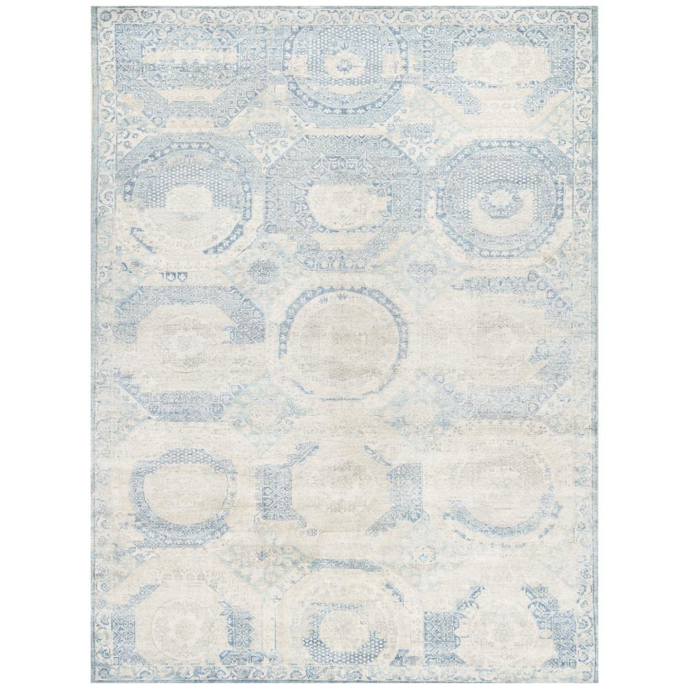 Exquisite Rugs Mamluk Global Bazaar Moroccan Pattern Distressed Blue Rug 8 X 10