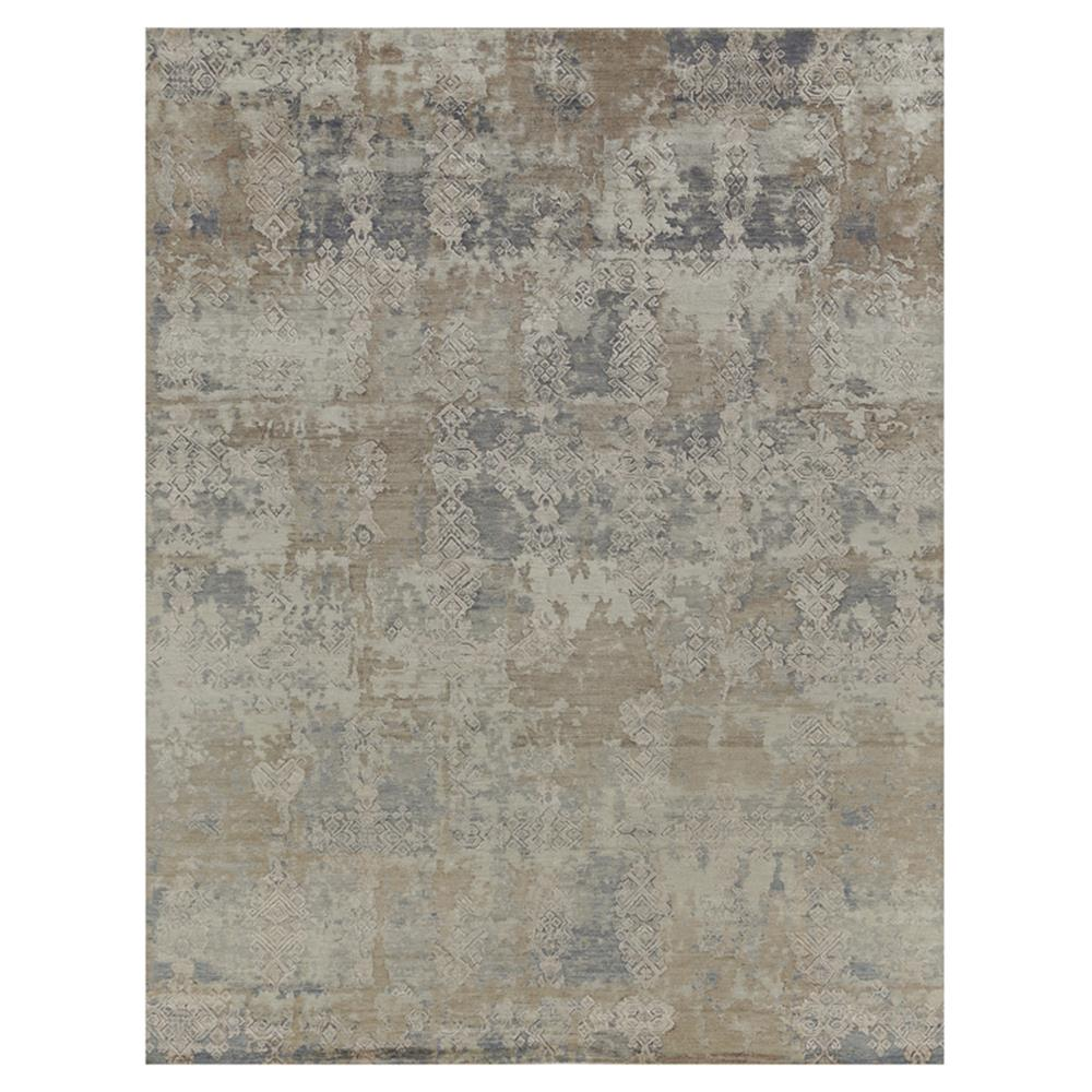 Exquisite Rugs Hundley Modern Clic Diamond Pattern Distressed Beige Grey Rug 8 X 10