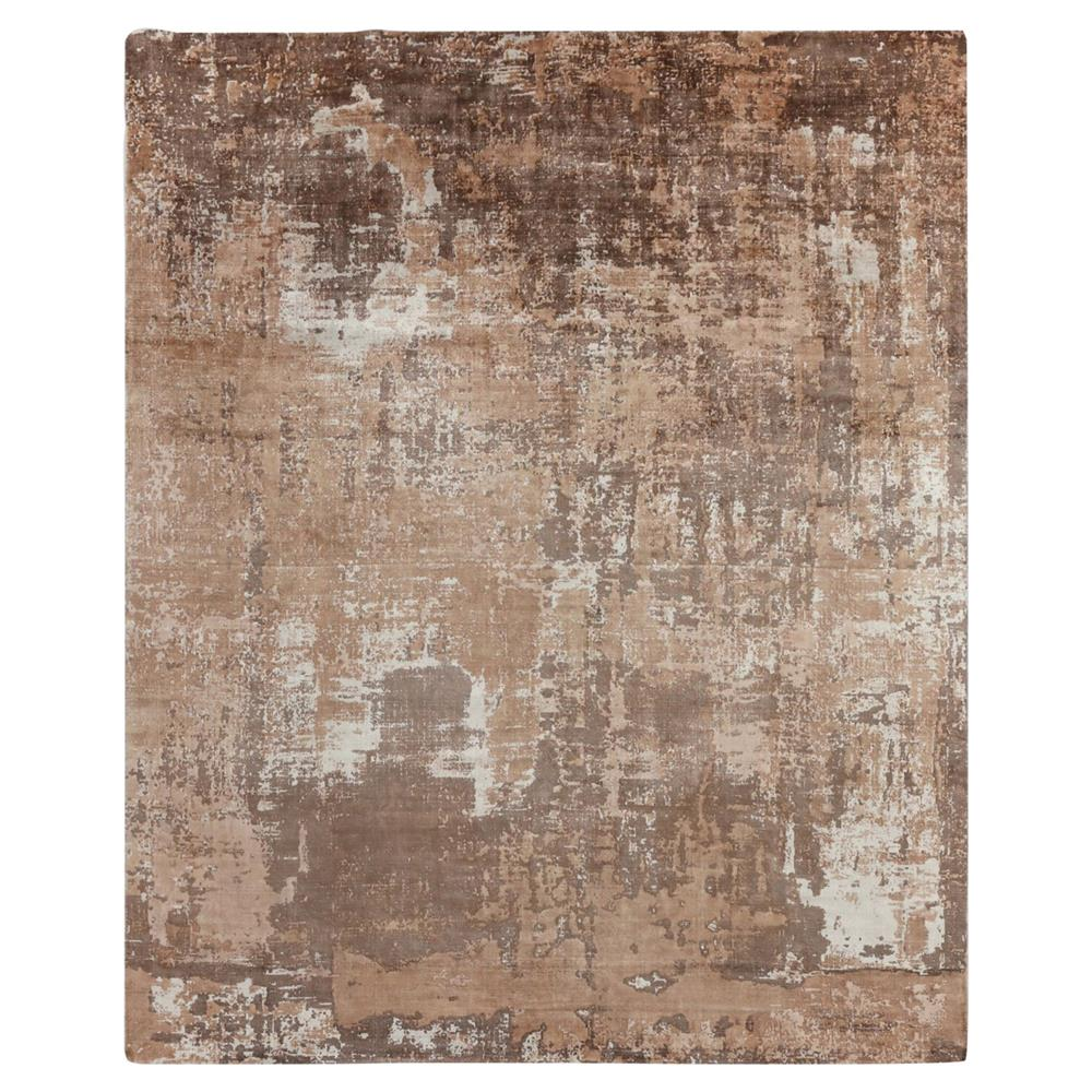 Exquisite Rugs Koda Modern Clic Abstract Monochrome Earth Bamboo Silk Rug 8 X 10 Kathy