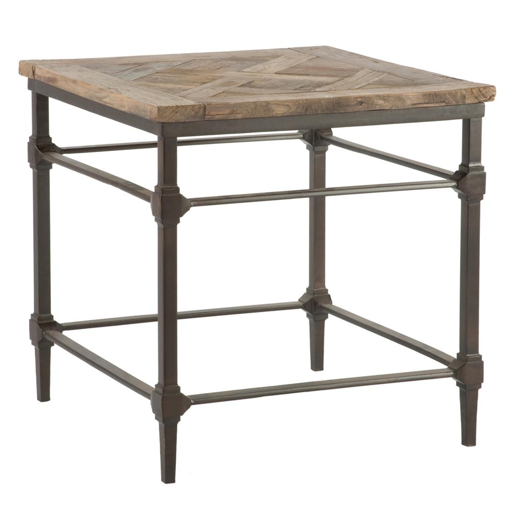 Mattix french country reclaimed wood side end table
