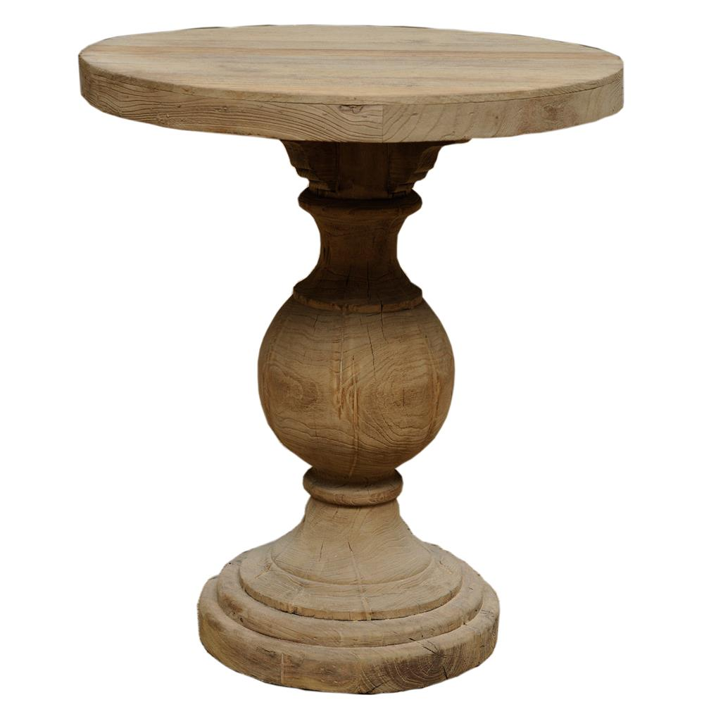 Unfinished Kason Reclaimed Wood French Country Pedestal