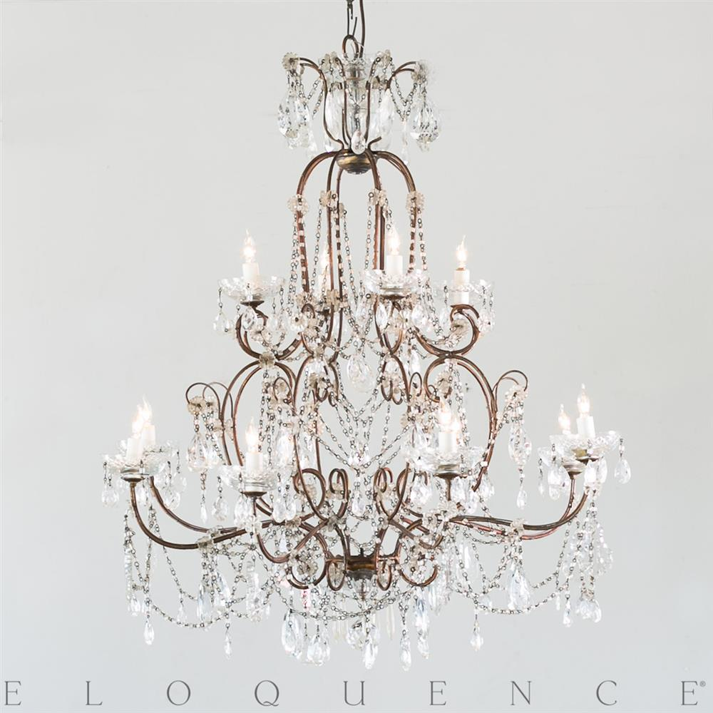 Eloquence french country style antique chandelier 1890 kathy eloquence french country style antique chandelier 1890 kathy kuo home aloadofball Images