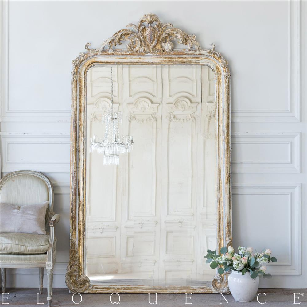 Eloquence French Country Style Antique Floor Mirror: 1890 | Kathy ...