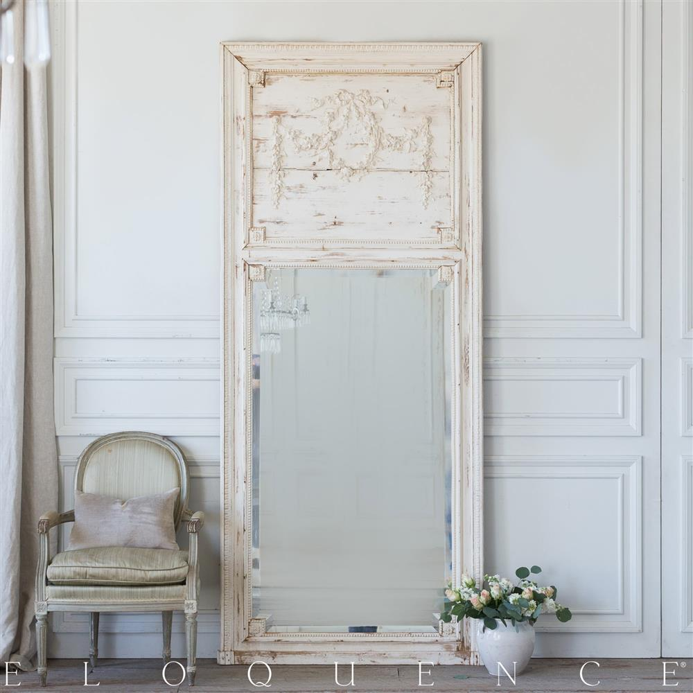 Eloquence French Country Style Antique Trumeau Mirror 1890 Kathy Kuo Home