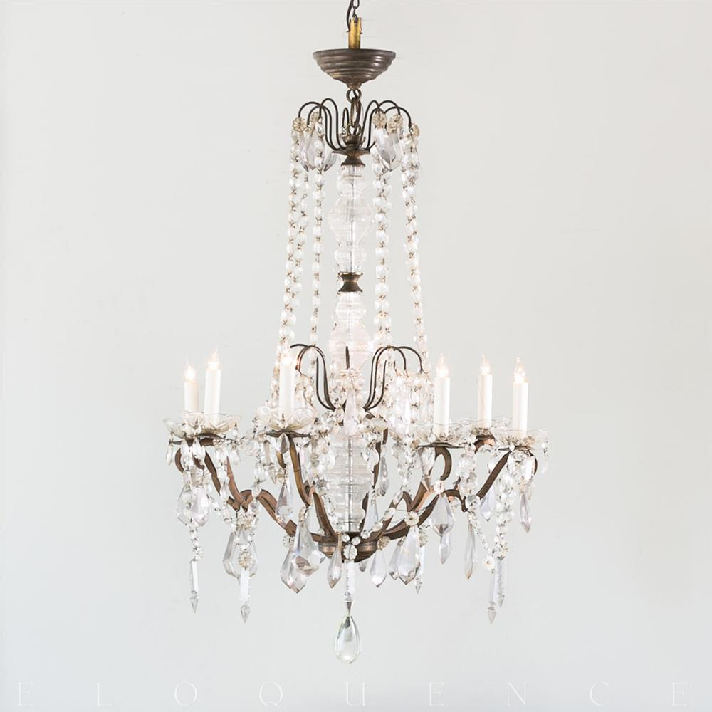 Eloquence french country style antique chandelier 1900 kathy kuo home aloadofball Choice Image