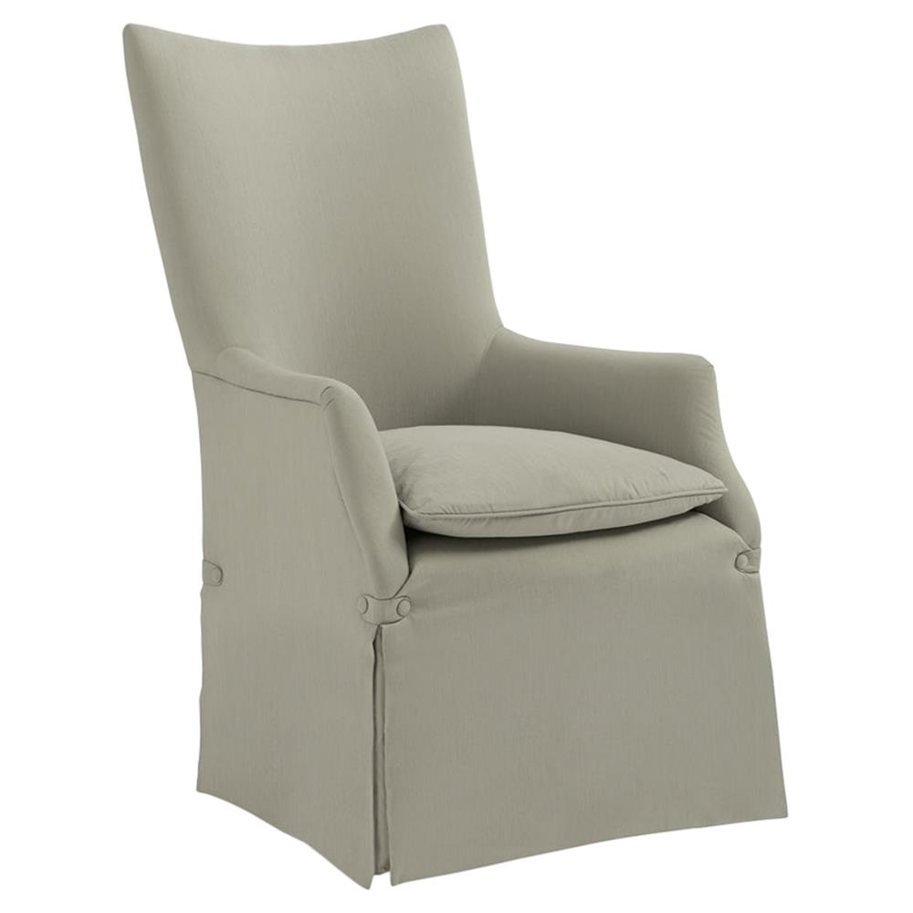 Deena Modern Classic Taupe Skirted Rolling Dining Arm Chair | Kathy Kuo  Home ...